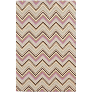 Frontier Ivory and Wenge Rectangular: 5 Ft. x 8 Ft. Rug