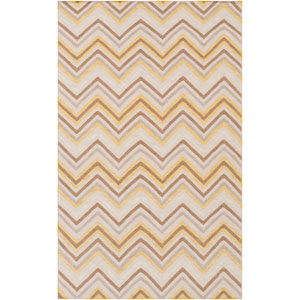 Frontier Ivory and Baby Blue Rectangular: 5 Ft. x 8 Ft. Rug