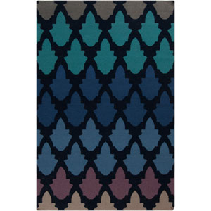 Frontier Federal Blue and Atlantic Blue Rectangular: 2 Ft. x 3 Ft. Rug