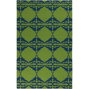 Frontier Peridot and Midnight Blue Rectangular: 5 Ft. x 8 Ft. Rug