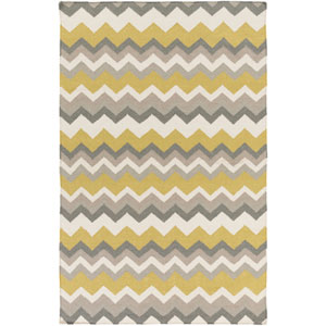 Frontier Gold and Gray Rectangular: 2 Ft x 3 Ft Rug