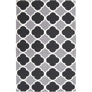Frontier Gray and Black Rectangular: 5 ft. x 8 ft. Rug