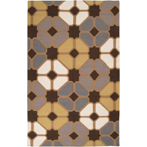 Frontier Chocolate and Gold Rectangular: 5 ft. x 8 ft. Rug