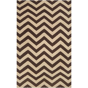 Frontier Dark Brown and Cream Rectangular: 5 ft. x 8 ft. Rug