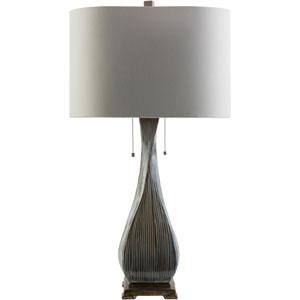Fontana Light Brown Two-Light Table Lamp