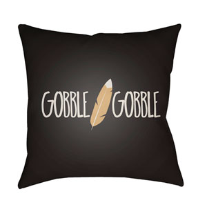 Black Feather 18-Inch Throw Pillow with Poly Fill