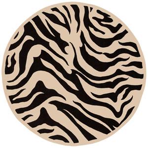 Goa Zebra Round: 7 Ft. 9 In. Rug