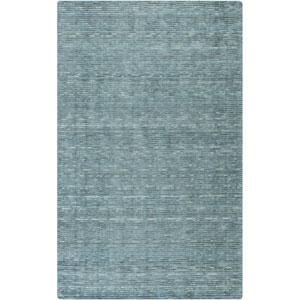Gaia Teal Blue Rectangular: 5 Ft. x 8 Ft. Rug