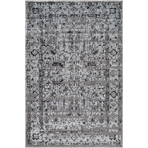 Goldfinch Gray and Black Rectangular: 2 Ft. x 3 Ft. Rug