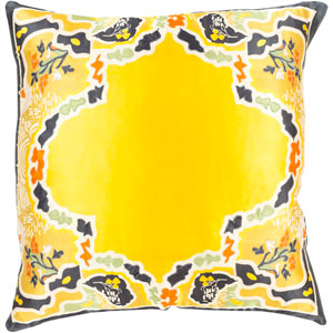 Geisha Yellow and Black 20-Inch Pillow Cover