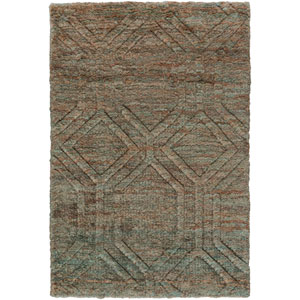 Galloway Ivory and Teal Rectangular: 2 Ft x 3 Ft Rug