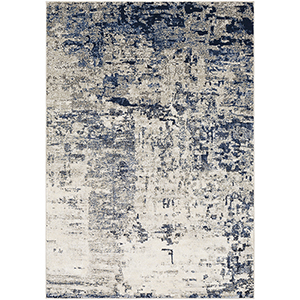 Lagom Navy and Grey Rectangular: 5 Ft. 3 In. x 7 Ft. 3 In. Rug