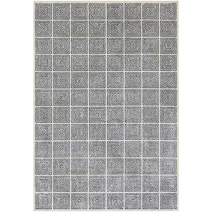 Lagom Navy and Ivory Rectangular: 5 Ft. 3 In. x 7 Ft. 3 In. Rug