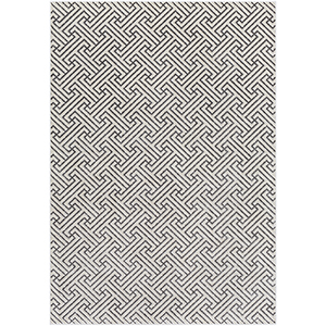 Lagom Charcoal and Ivory Rectangular: 5 Ft. 3 In. x 7 Ft. 3 In. Rug