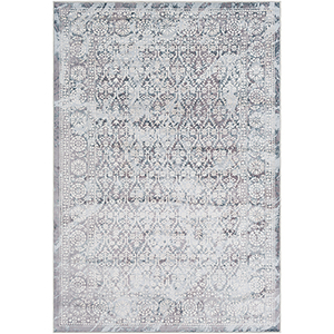 Genesis Grey and Pale Blue Rectangular: 7 Ft. 10 In. x 10 Ft. 3 In. Rug