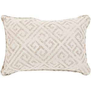Geonna Ivory and Medium Gray 16 x 16 In. Throw Pillow