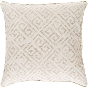 Geonna Ivory and Medium Gray 20 x 20 In. Throw Pillow