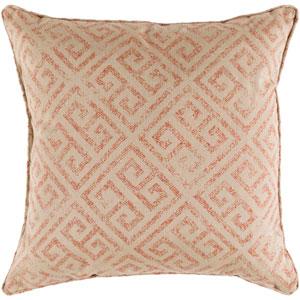 Geonna Khaki and Burnt Orange 20 x 20 In. Throw Pillow