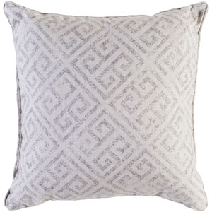 Geonna Ivory and Taupe 20 x 20 In. Throw Pillow