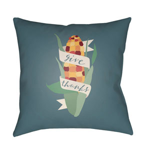 Blue Corn 20-Inch Throw Pillow with Poly Fill