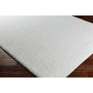 Galaxy Shag White Rectangular: 6 Ft. 7 In. x 9 Ft. 6 In. Rug