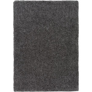 Galaxy Shag Charcoal Rectangular: 6 Ft. 7 In. x 9 Ft. 6 In. Rug