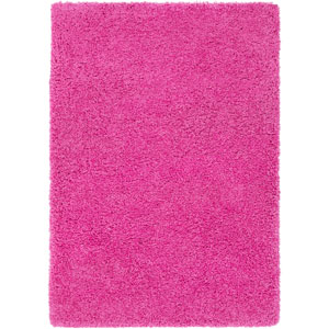 Galaxy Shag Bright Pink Rectangular: 6 Ft. 7 In. x 9 Ft. 6 In. Rug
