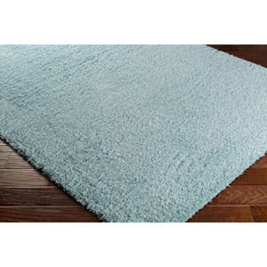 Galaxy Shag Pale Blue Rectangular: 6 Ft. 7 In. x 9 Ft. 6 In. Rug