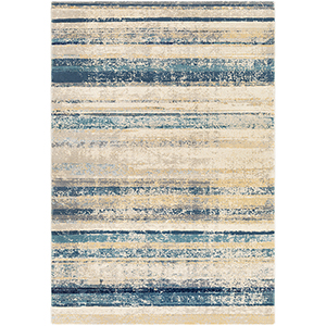 Cash Navy and Taupe Rectangular: 5 Ft. 3 In. x 7 Ft. 6 In. Rug