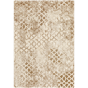 Cash Camel and Tan Rectangular: 5 Ft. 3 In. x 7 Ft. 6 In. Rug