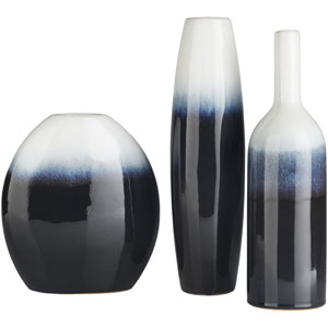 Harris Navy and White Vase