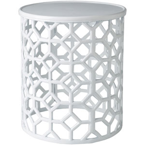 Hale White Accent Table