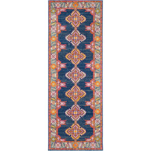 Harput Blue Runner: 2 Ft. 7 In. x 7 Ft. 3 In. Rug