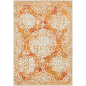 Harput Orange Rectangle: 2 Ft. x 3 Ft. Rug