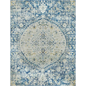 Harput Blue Rectangle: 7 Ft. 10 In. x 10 Ft. 3 In. Rug