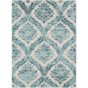Harput Blue Rectangle: 2 Ft. x 3 Ft. Rug