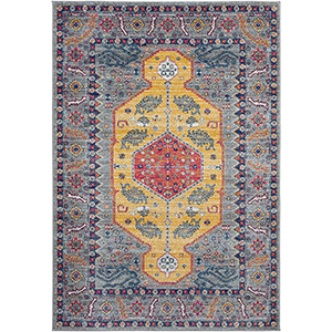 Harput Saffron Rectangular: 5 Ft. 3 In. x 7 Ft. 3 In. Rug