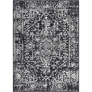 Harput Black Rectangular: 7 Ft. 10 In. x 10 Ft. 3 In. Rug