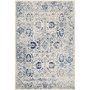 Harput Dark Blue Rectangular: 7 Ft. 10 In. x 10 Ft. 3 In. Rug