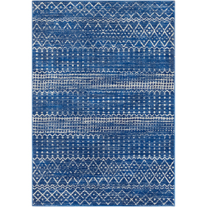 Harput Bright Blue Rectangular: 6 Ft. 7 In. x 9 Ft. Rug