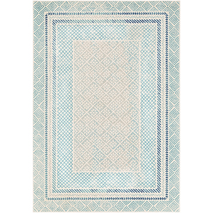 Harput Aqua and Blue Rectangular: 7 Ft. 10 In. x 10 Ft. 3 In. Rug