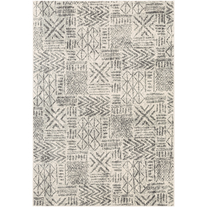 Harput Charcoal and Light Grey Rectangular: 7 Ft. 10 In. x 10 Ft. 3 In. Rug