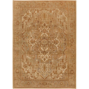 Hathaway Burgundy and Gold Rectangular: 6 Ft 7 In x 9 Ft 6 In Rug