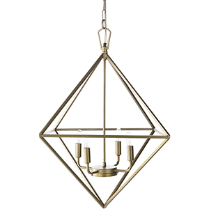 Bach Brass 25-Inch Four-Light Pendant