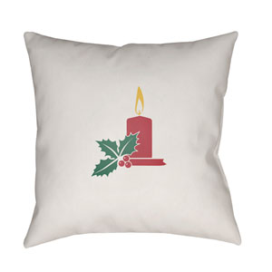 White Candle Light 18-Inch Throw Pillow with Poly Fill