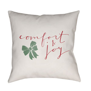 White Comfort 18-Inch Throw Pillow with Poly Fill