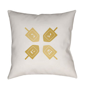 White Dreidel II 20-Inch Throw Pillow with Poly Fill