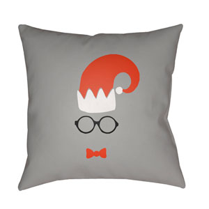 Gray Elf 20-Inch Throw Pillow with Poly Fill