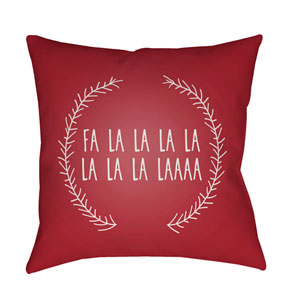 Red Falalalala 20-Inch Throw Pillow with Poly Fill