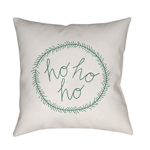 White Hohoho 20-Inch Throw Pillow with Poly Fill